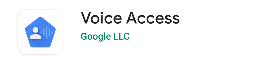 Voice Access in Play Store.