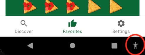 Accessibility icon in the navigation bar.