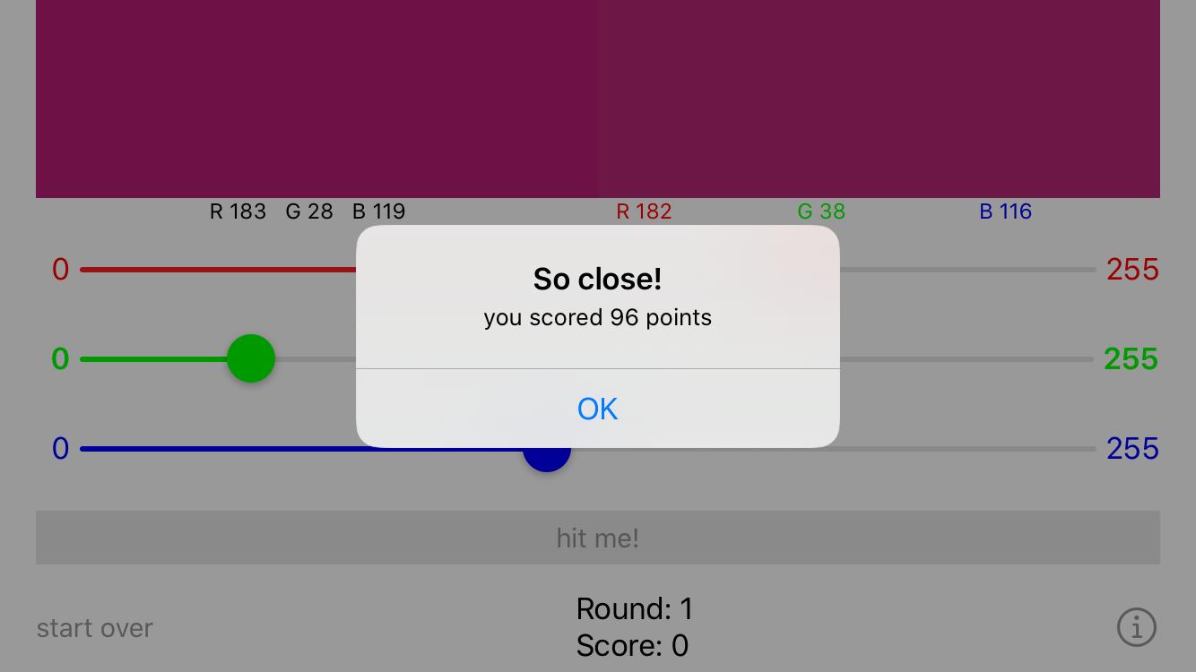 UIKit RGBullsEye starter app