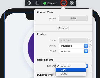 Set preview's color scheme to Dark.