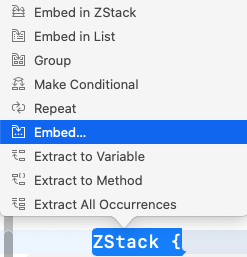 Embed ZStack in ... some container.