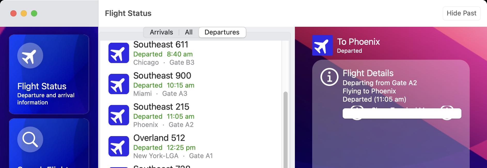 Selected Flight
