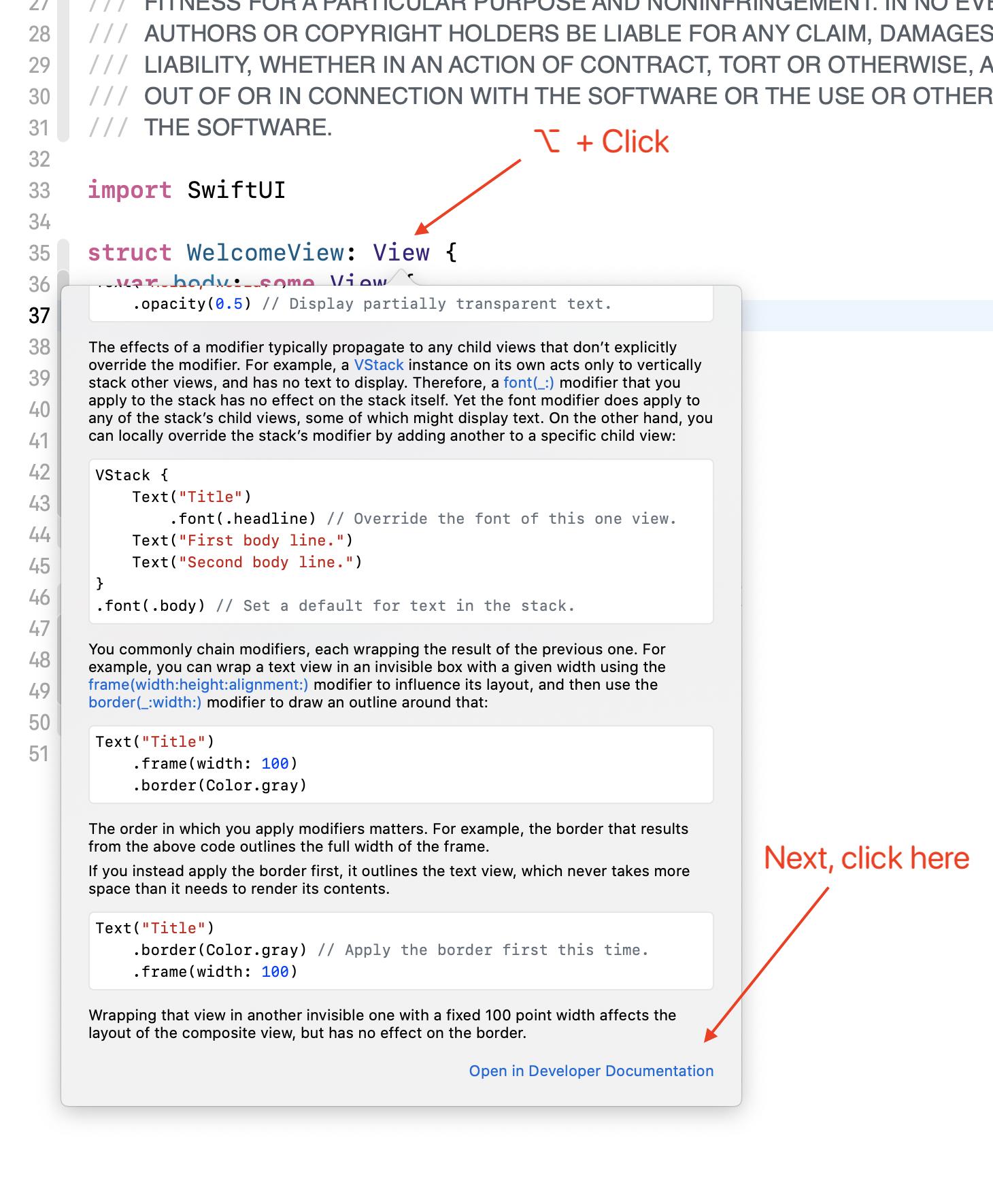 XCode documentation