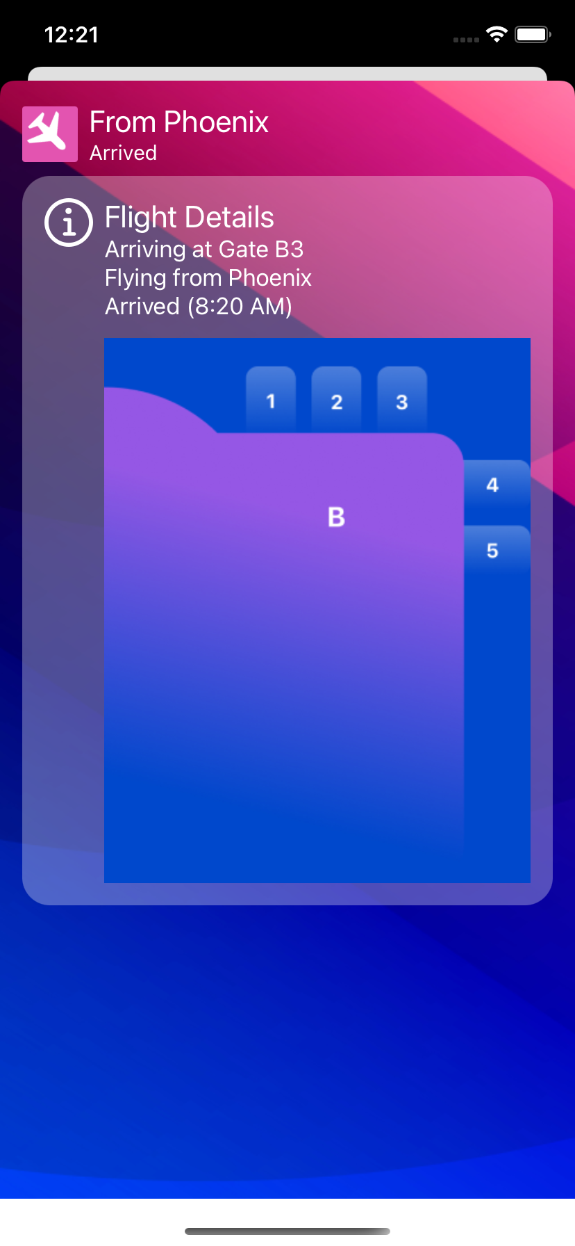 Initial Modal view