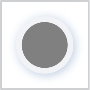 Neumorphic color circle on white background
