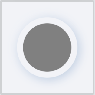 Neumorphic color circle on element-colored background
