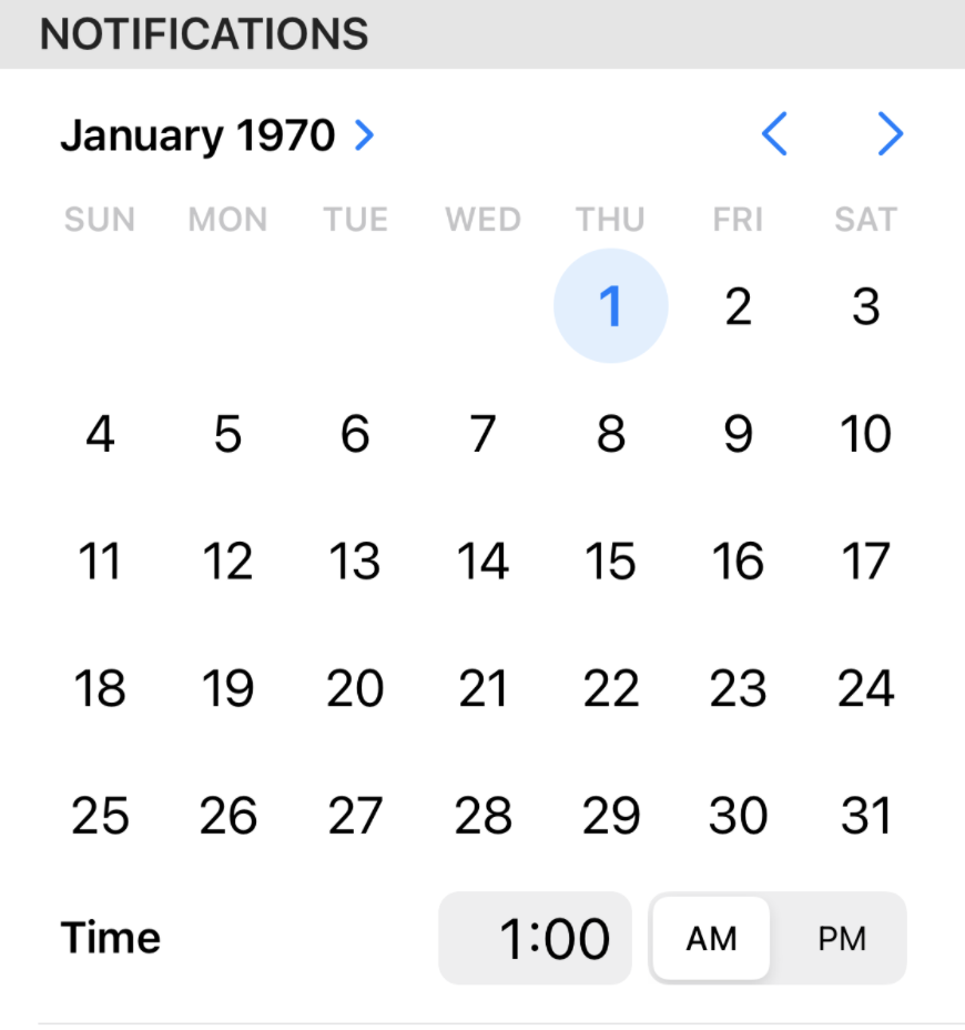 Graphical date picker