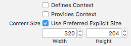 Changing the preferred width and height of the popover