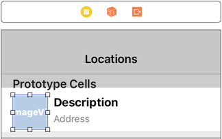 The table view cell has an image view