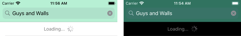The app shows that it is busy
