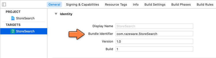 The Bundle ID must match with the identifier from Xcode