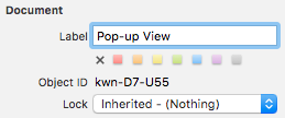 Giving the view a description for use in Xcode