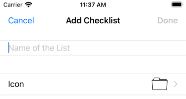 You can now give each list its own icon