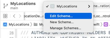 The Edit Scheme... option