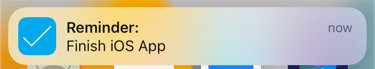 The local notification when the app is in the background