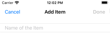 The Done button is not enabled if there is no text