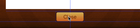 The dotted blue lines are guides that help position your UI elements