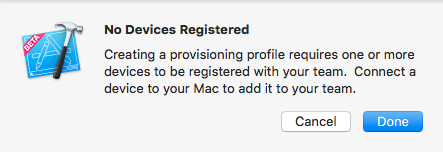 No devices registered