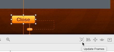 The Update Frames button