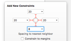 Creating the constraints for the web view