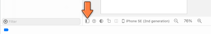 The button that shows the Document Outline pane