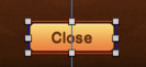 The Close button has red borders