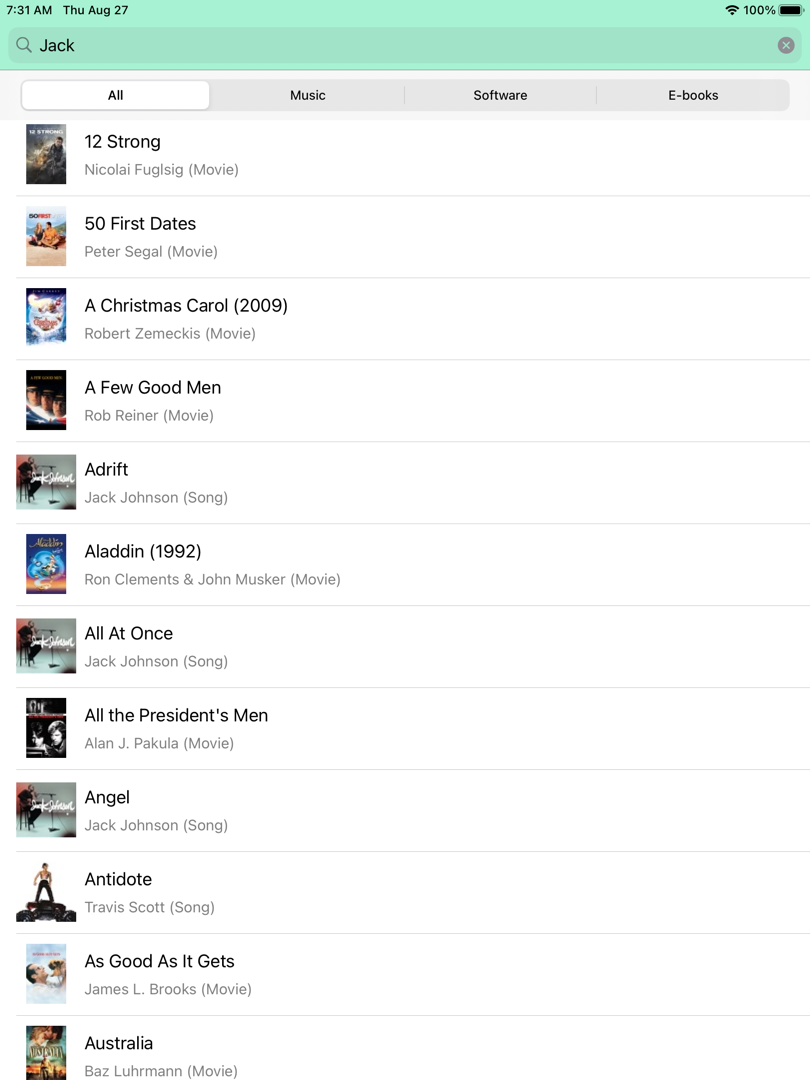 StoreSearch in the iPad Simulator
