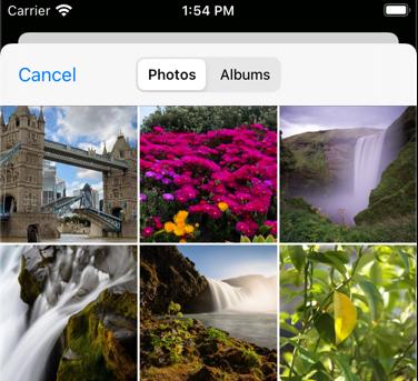 The iOS photos library on the simulator