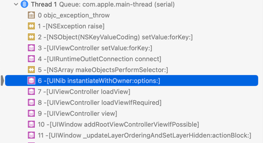 Xcode now has more info about the exception