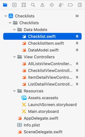 Organized file listing
