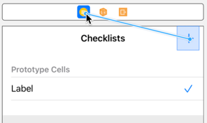 Control-drag from Add button to Checklist View Controller