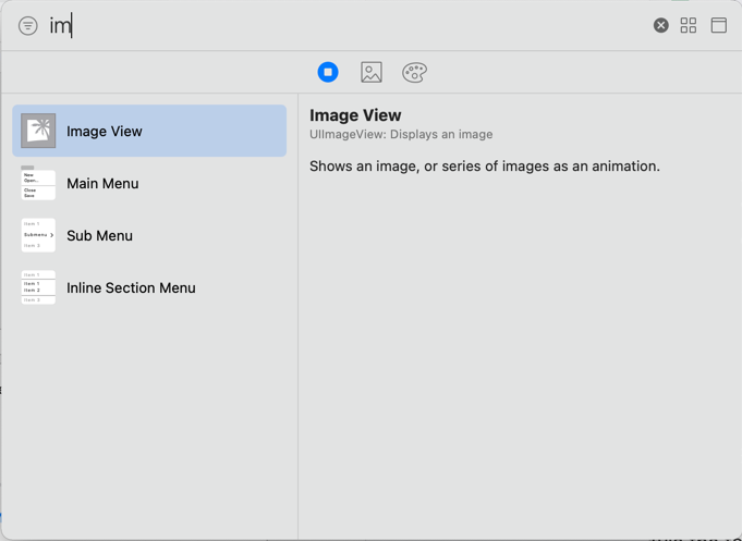 The Image View control in the Objects Library