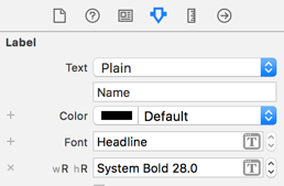 Adding a size class variation for the label's font