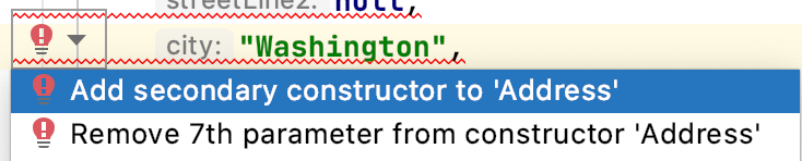 Remove 7th parameter from constructor 'Address'