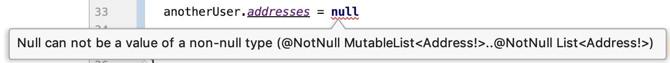 Null can not be a value of a non-null type