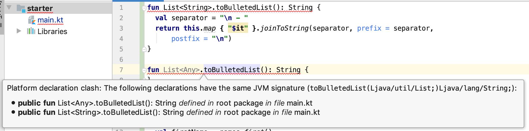 Platform declaration clash: The following declarations have the same JVM signature