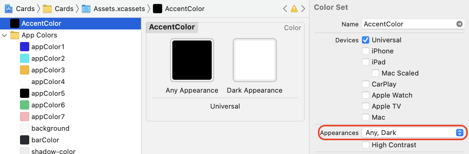 Change the accent color