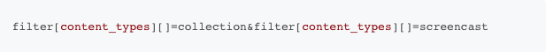 Apiary /contents: filter example