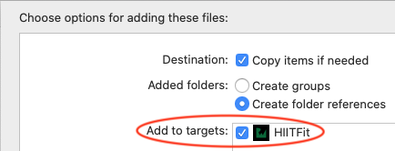 If you add your own videos, check Add to targets.