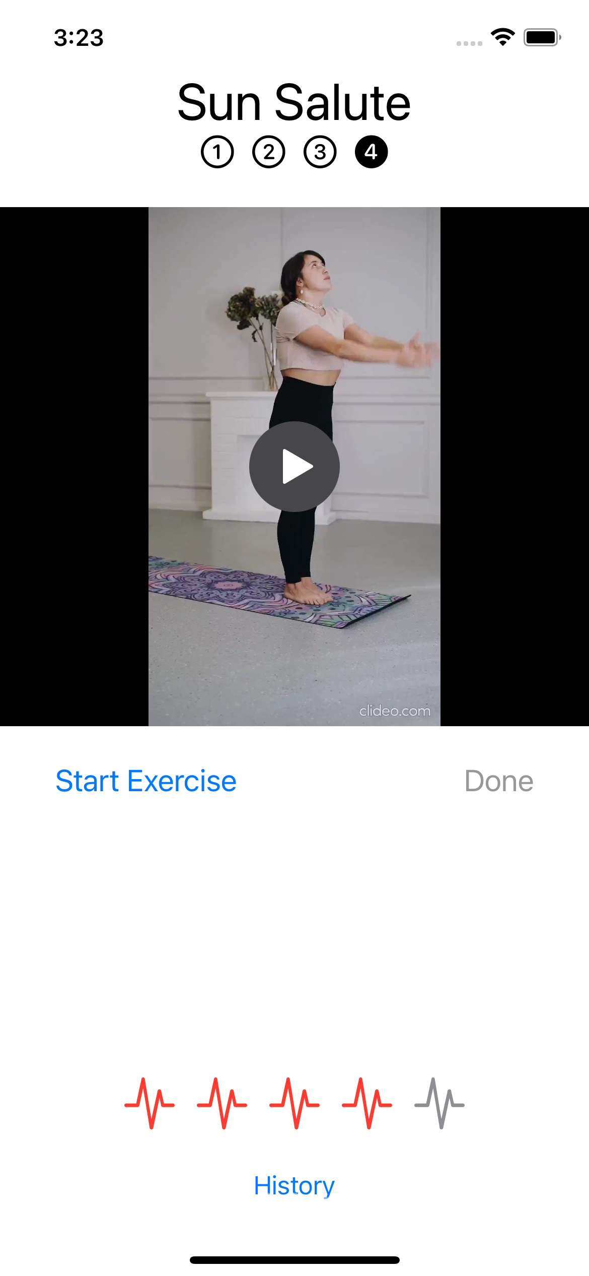 Rating the exercise