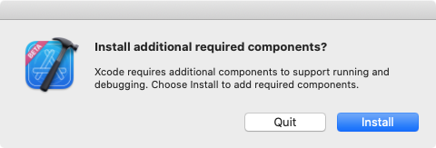 Install additional required components.