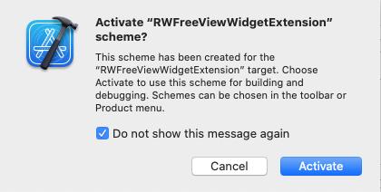 Activate scheme for new widget extension.