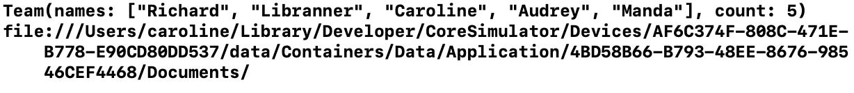 Loaded team data