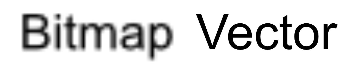 Bitmap vs vector