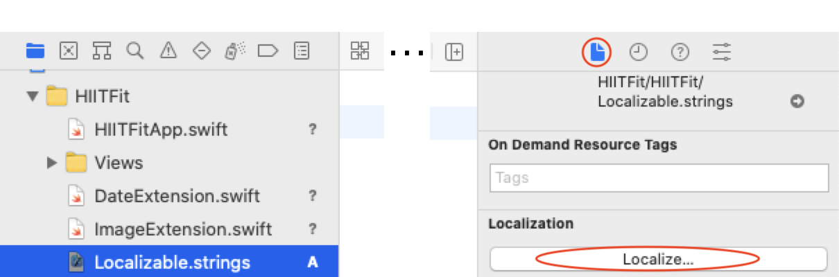 Localizable.strings: File inspector