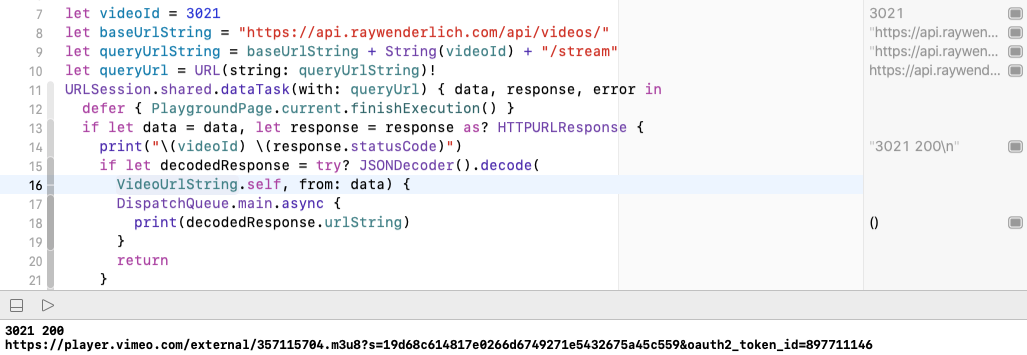 Decoding url with flattened JSON.