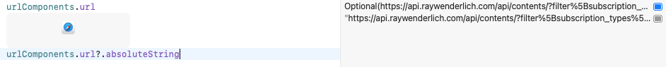 Playground trying to display a URL