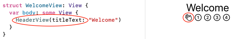 Welcome view with refactored Header view: issues resolved