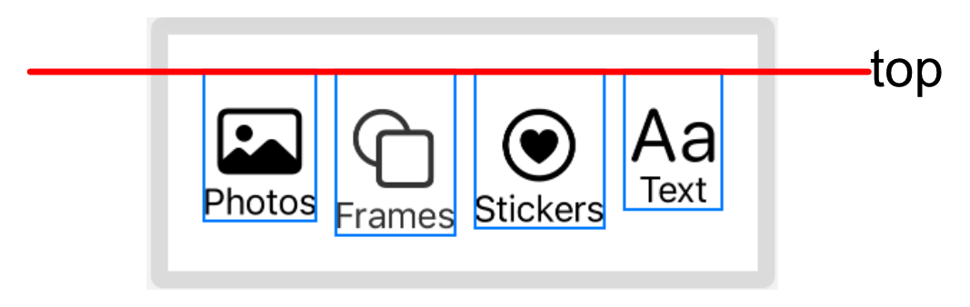 Top aligned buttons