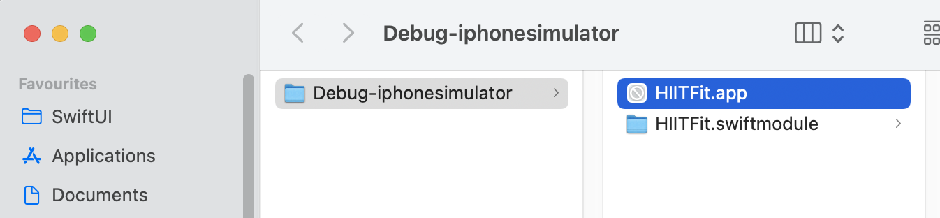 App in Finder